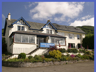 The Lochearnhead Hotel situated on the banks of Loch Earn in the Loch Lomond and Trossachs National Park